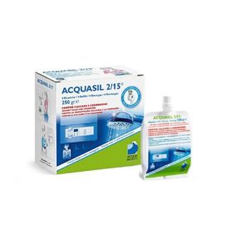 Acquabrevetti ACQUASIL 2/15 Soluzione acquosa di polifosfati / 4 ricariche da gr.250/cad PC100 originale Acquabrevetti in ven...