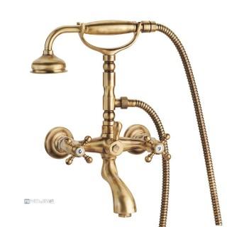 Miscelatore per vasca bronzato Porta&bini serie OLD FASHION rubinetto classico e Vintage e Retrò da esterno duplex originale ...