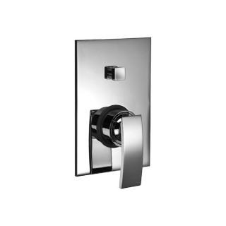 Miscelatore per doccia cromato Hego serie IO Quadro rubinetto moderno da incasso con deviatore automatico originale Hego in v...