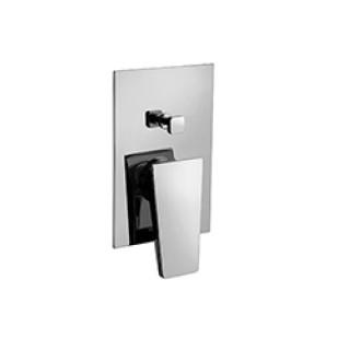 Miscelatore per doccia cromato Hego serie LAMA rubinetto moderno da incasso con deviatore automatico originale Hego in vendit...