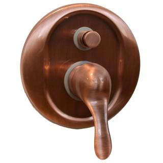 Miscelatore per doccia ramato Porta&bini serie DUNA rubinetto classico e Vintage e Retrò da incasso con deviatore originale P...
