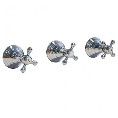 Miscelatore per doccia cromato Porta&bini serie OLD FASHION rubinetto classico e Vintage e Retrò da incasso con deviatore ori...