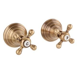 Miscelatore per doccia bronzato Porta&bini serie OLD FASHION rubinetto classico e Vintage e Retrò da incasso originale Porta&...