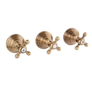 Miscelatore per doccia bronzato Porta&bini serie OLD FASHION rubinetto classico e Vintage e Retrò da incasso con deviatore or...