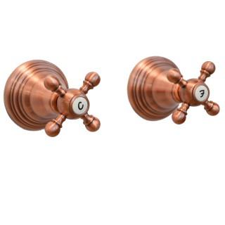 Miscelatore per doccia ramato Porta&bini serie OLD FASHION rubinetto classico e Vintage e Retrò da incasso originale Porta&bi...