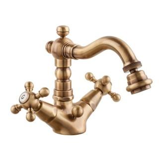 Miscelatore per bidet bronzato Porta&bini serie OLD FASHION rubinetto classico e Vintage e Retrò a bocca girevole originale P...