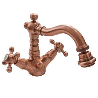 Miscelatore per bidet ramato Porta&bini serie OLD FASHION rubinetto classico e Vintage e Retrò a bocca girevole originale Por...