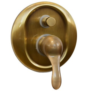 Miscelatore per doccia bronzato Porta&bini serie DUNA rubinetto classico e Vintage e Retrò da incasso con deviatore originale...